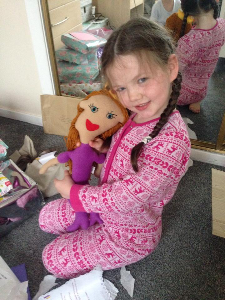 girl and her personalized doll