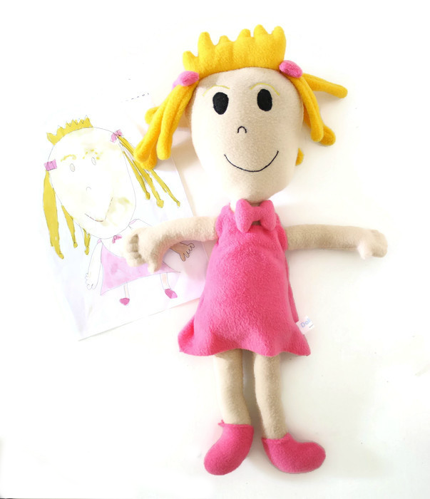 doll from drawing