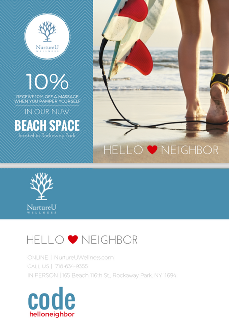 LOCAL ADD CAMPAIGN FOR HIGH END WELLNESS CLIENT | CUSTOM LANDING PAGE DESIGN + POSTCARD DESIGN + STATEGY
