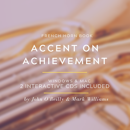 ACCENT ON ACHIEVEMENT FRENCH HORN BOOKS