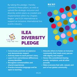 ILEA diversity pledge light blue