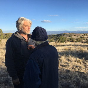 Larry Littlebird blessing our friend and colleague, Greg Valerio, who has so generously come alongside Hamaatsa.   Learn more about the Walking Backward Pilgrimage>