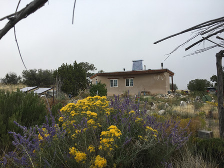 Off-grid sustainable living at Hamaatsa. Our small 600 sq.ft. adobe farm house runs on 100% renewable energy systems.