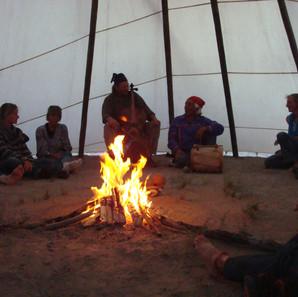 Listening Circle in the Hamaatsa Council Lodge