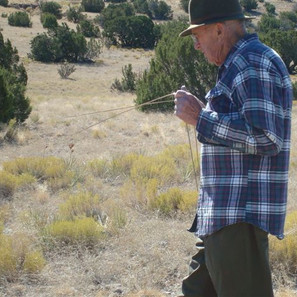 Water Dowser and Seer, Bryan Lappe. Dowsing for our well. He told us he saw springs under the land here. He found the exact spot for the well to be dug. He even told us how deep it would be.  He was right on the mark.  What a blessing Bryan Lappe was to many people of the land. We miss him dearly!