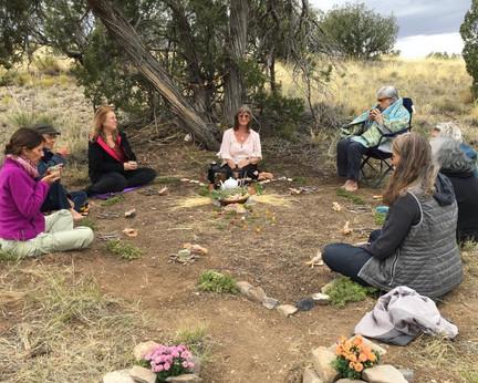 In the Shelter of Tea. Land Art Tea Sanctuary with Deborah Littlebird