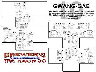 Brewer's Tae Kwon Do- Gwang-gae form