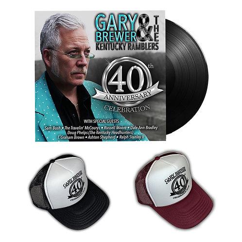 40th Anniversary Celebration Hat & Autographed Vinyl Duo