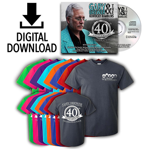 40th Anniversary Celebration Digital CD & Shirt Duo