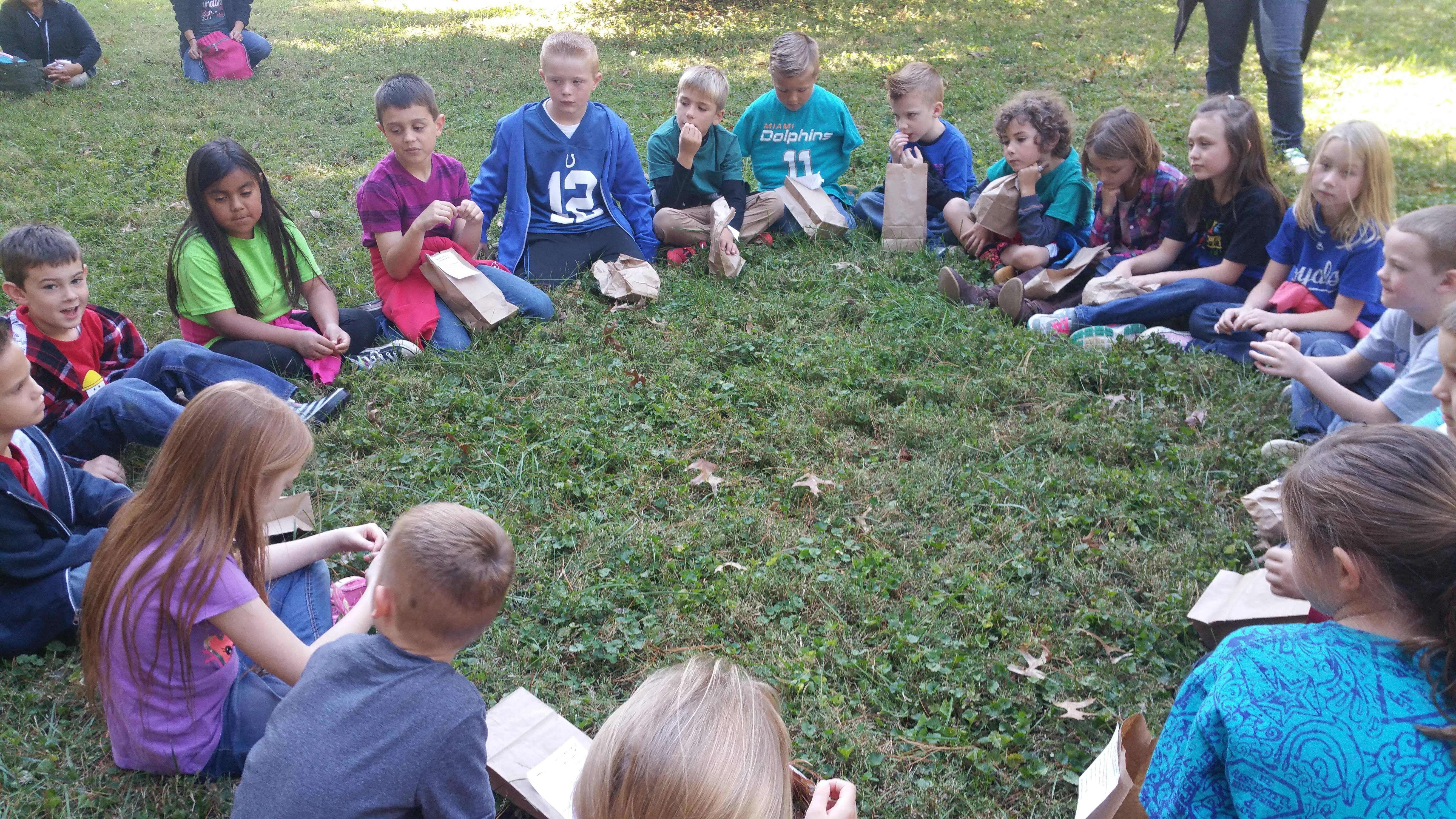 Kids talking about what they enjoyed