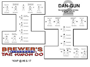 Brewer's Tae Kwon Do- Dan-gun form