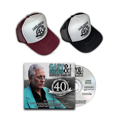 40th Anniversary Celebration Hat & CD Duo