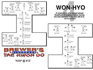 Brewer's Tae Kwon Do- Won-hyo form
