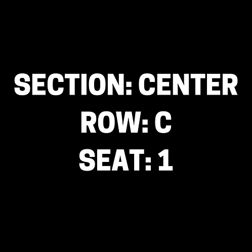 M.B. Section: Center, Row: C, Seat: 1