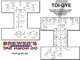 Brewer's Tae Kwon Do- Toi-gye form
