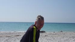 Gary Brewer on the beach