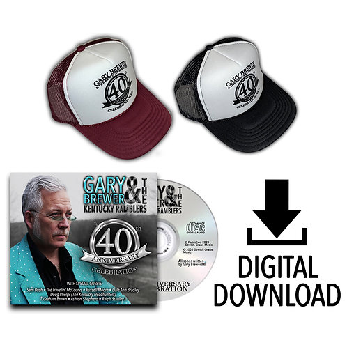 40th Anniversary Celebration Hat & Digital CD Duo