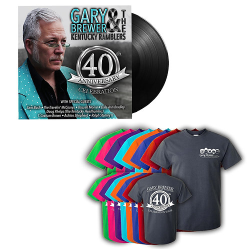 40th Anniversary Celebration Shirt & Autographed Vinyl Duo