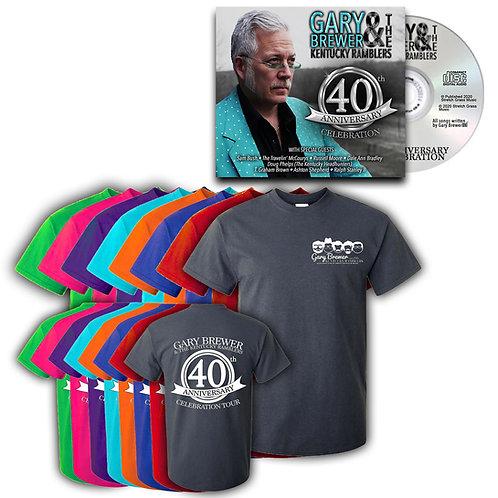 40th Anniversary Celebration Shirt & CD Duo