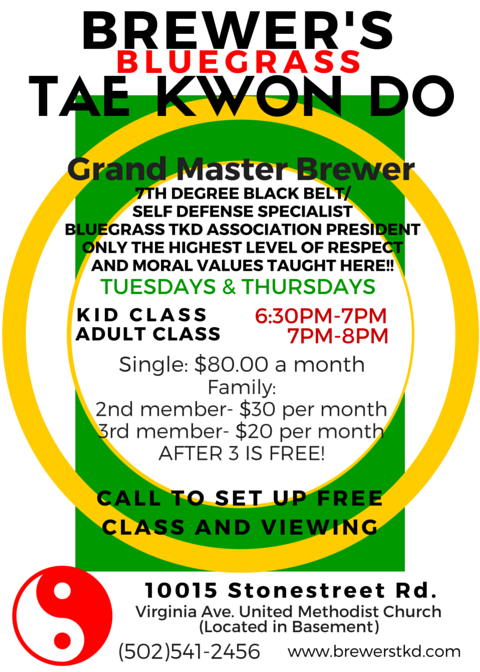 Brewer's Tae Kwon Do info card