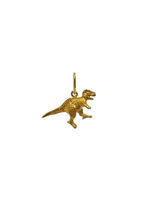 Асимметричные серьги с динозавром