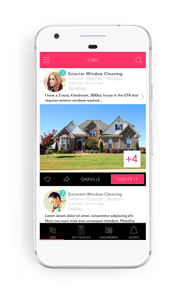 Quote It, mobile app for home services, screenshot 1b, quote it.