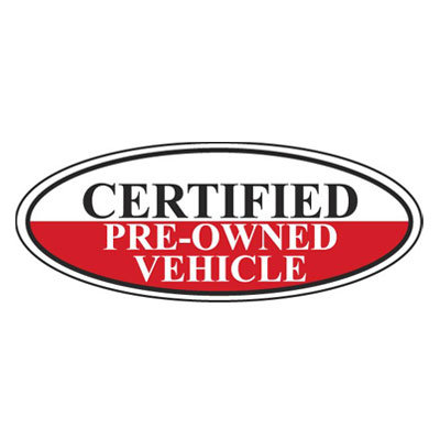 Certified Pre-Owned Vehicle Oval Sign {EZ196-B}