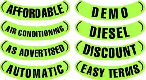 Black & Chartreuse Reverse Arch Slogan {EZ219-C}