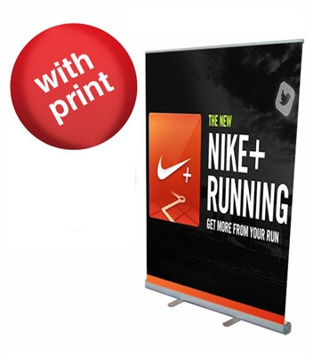 """Retractable Roll Up Banner Stand 57"""" with Vinyl Print"""