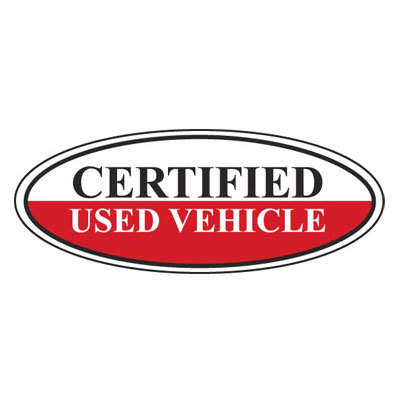 Certified Used Vehicle Oval Sign {EZ196-A}