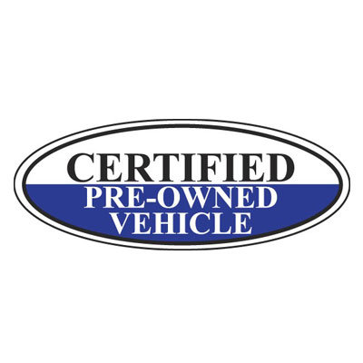 Certified Pre-Owned Vehicle Oval Sign {EZ196-F}