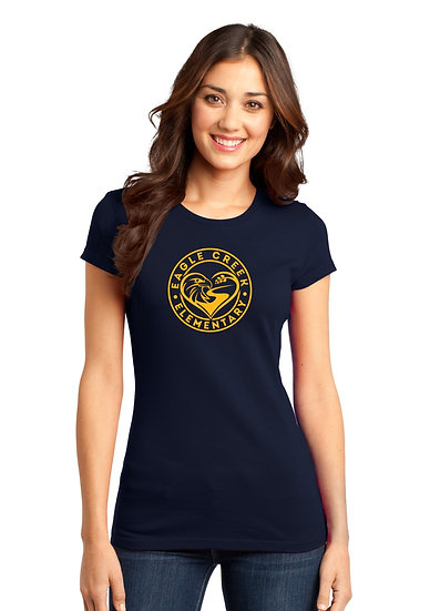 Eagle Creek Elementary Ladies Fitted Cotton Tee