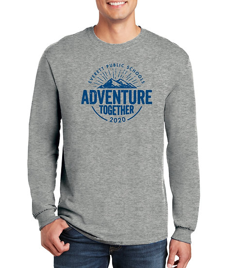 Adventure Together 5.3oz Unisex Long Sleeve Cotton Tee