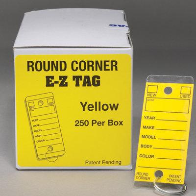 Round Corner Self Laminating Key Tags {EZ407}