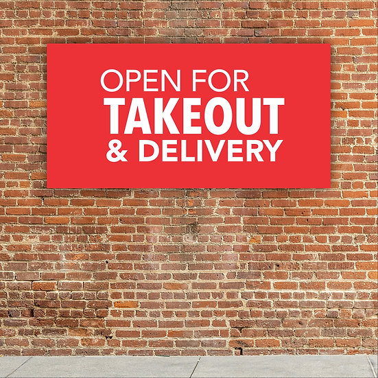 Standard Banner (Open For Takeout & Delivery)