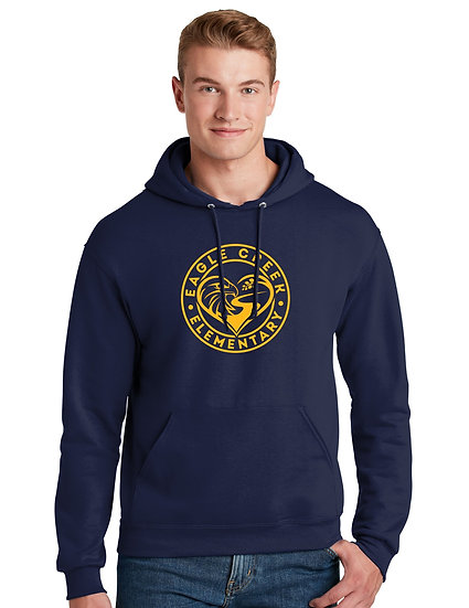 Eagle Creek Elementary 8oz Unisex Cotton Pullover Hoodie
