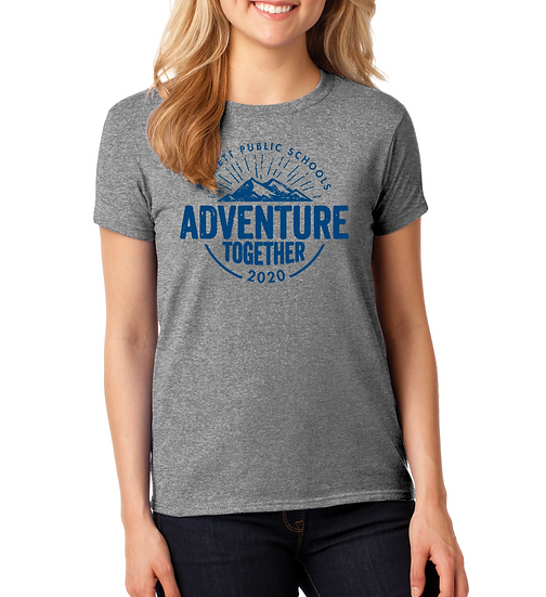 Adventure Together 5.3oz Ladies Cotton Tee