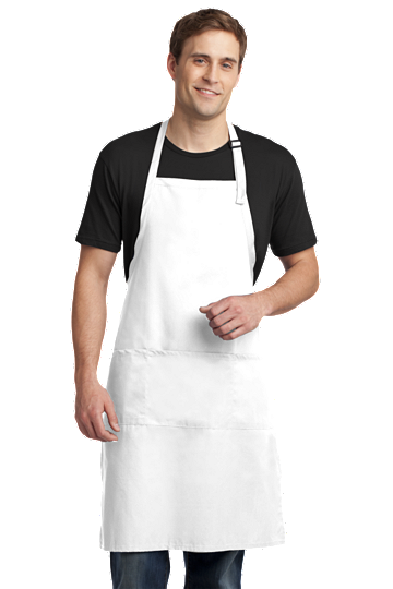 Port Authority® Easy Care Extra Long Bib Apron with Stain Release