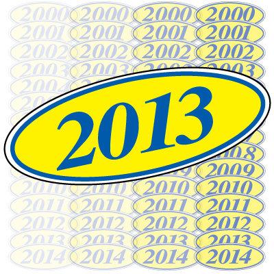 Blue & Yellow Oval Year Model {EZ198-B}