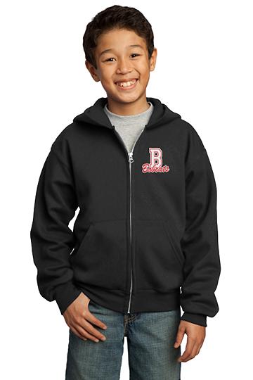Youth Unisex Core Fleece Full-Zip Hooded Sweatshirt