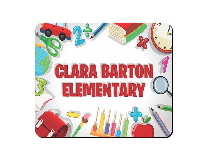 Clara Barton Elementary Mouse Pad