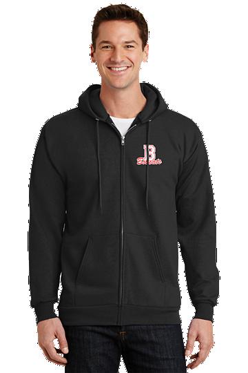Unisex Essential Fleece Full-Zip Hooded Sweatshirt