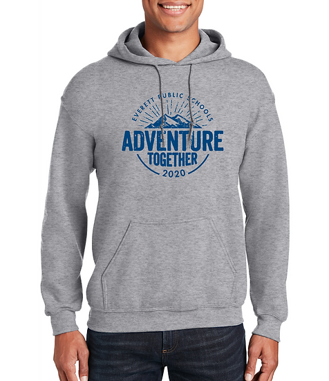 Adventure Together 8oz Unisex Cotton Pullover Hoodie