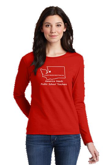 Gildan® Ladies Heavy Cotton™ 100% Cotton Long Sleeve T-Shirt