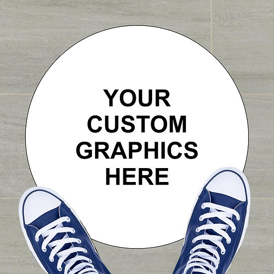 """12"""" Custom Floor Decal (YOUR SUPPLIED GRAPHICS)"""
