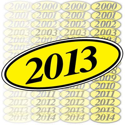 Black & Yellow Oval Year Model {EZ198-Y}