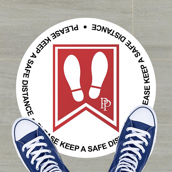 "12"" Custom Floor Decal (Park Place Logo)"