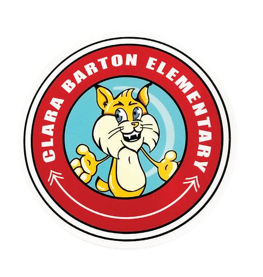 Clara Barton Bobcats 3.5 inch Peel & Stick Decal