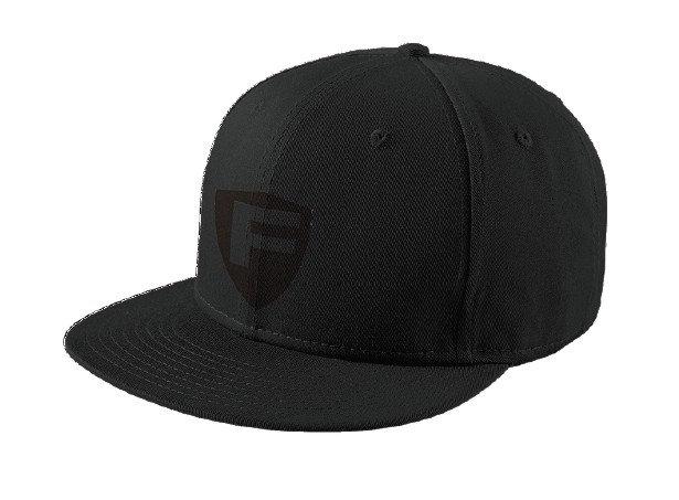 Fortis Crest Flat Bill Snapback Hat BLK/BLK