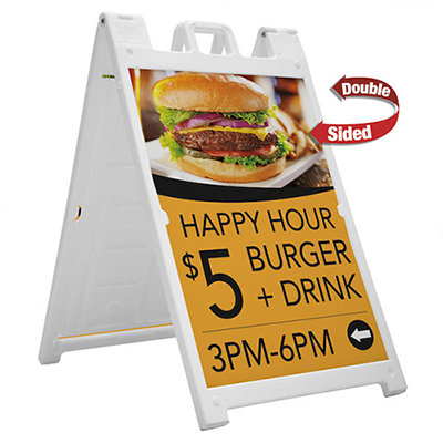 """Signicade Deluxe Frame w/ 24"""" x 36"""" 4mm Coroplast Prints"""